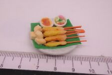 1:12th Delicious Chicken Satay With Sause  . Miniature Food