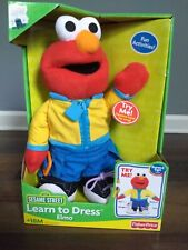 "14"" Learn to Dress Elmo Plush Fisher-Price Sesame Street"