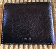 FOSSIL Black Color Soft Quality Men's Leather Wallet Credit Card Organizer.