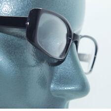 Narrow Black Frame Tres Chic Blank Clear Lens Runway Fashion Eyewear Glasses