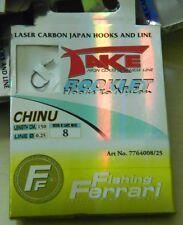 1 confezione 12 ami legati N. 8 TAKE pesca mf ab31