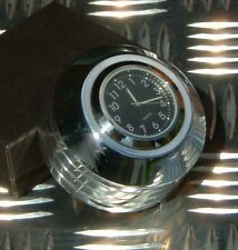 New British Made Harley 2006-on Dyna ® Stem Nut Cover with Clock