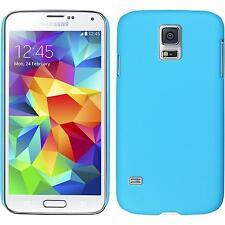 Coque Rigide Samsung Galaxy S5 mini - gommée bleu clair + films de protection