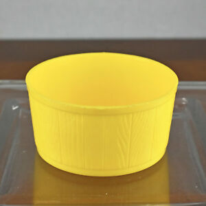 VTG Yellow Wash Tub Bucket 1975 Ideal Toy Mouse Trap Game Replacement Part Piece