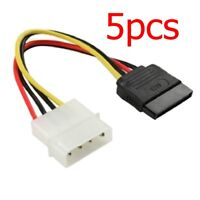 15CM 4 Pin Molex Female To 15 Pin Sata Male Power Adapter Cable Hard Disk Drive