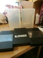 5 VHS Cases 3 Black and 2 Clear