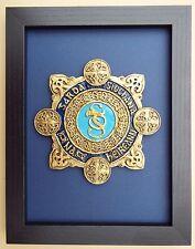 Large Scale Framed GARDA BADGE -  Ireland Plaque Police