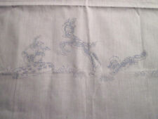 """""""Bambi Thumper and Flower"""" Characters Stamped on Crib Sheet to be Embroidered"""