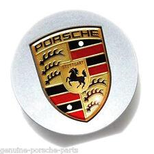 Genuine Porsche Large Colour Crest Centre Caps 00004460601 Set 4 or 1 NEW