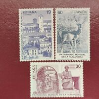 España año 1996 Bienes Culturales y Naturales Nº 3453 al 3455 MNH