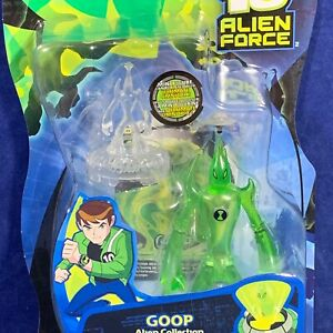 "New - GOOP - 4"" Ben 10 ALIEN FORCE Action Figure MINI Bandai #27454 Clear Green"
