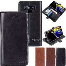 For Samsung Galaxy Note 9 10 8 Leather Magnetic Flip Card Slot Wallet Case Cover