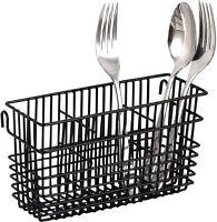 Sturdy Utensil Drying Rack Basket Holder (Black)