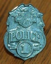 HARLEY-DAVIDSON POLICE BADGE PIN -for LAPEL-VEST-HAT -HARLEY POLICE PIN