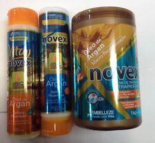 Revitay brasileño de tratamiento Aceite De Argan Novex Embelleze Brasil Kit 3 productos