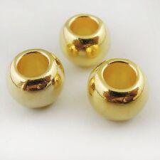 199pcs Golden Tone CCB Round Beads DIY Necklace Bracelet Craft Finding 10x8mm