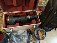 Nikon 600mm F4 AFS II D Lens, case, Tamrac bag and accessories - vg.condition