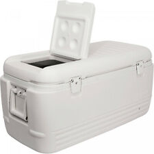 Igloo White Quick & Cool 100 Qt Chest Cooler Outdoor Camping Hiking Ice