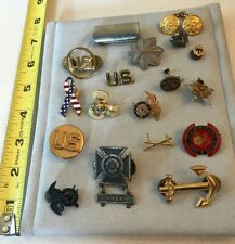 Vintage Military Jewelry Lot 18 Pieces