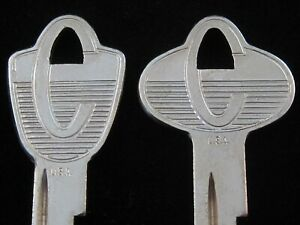 MERCURY COMET KEY BLANK SET 1960-1964 Ignition & Trunk CALIENTE NOS Vintage OEM