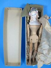 """Vintage Shackman Antique Bisque Head Wooden Joints Doll 9 1/2"""" Tall (#900-161)"""