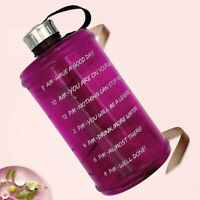 73oz Large Water Bottle with Motivational Time Stamp, BPA Free Non-toxic for