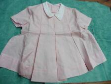 robe rose fillette vintage col claudine  1950 taille 2 ans