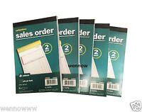 5pk Sales Order Book Carbonless 2 part Adams DC5808UV BRAND NEW invoice