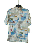 Batik Bay Hawaiian Button Down Shirt Small Men Rayon Surf Lobster Short Sleeve