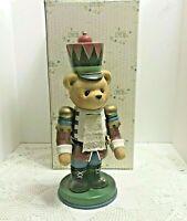 Vtg Cherished Teddies Functional Nutcracker Wooden 272132 Enesco 1997