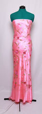 CASSANDRA STONE PINK BEADED FLORAL STRAPLESS PROM FORMAL GOWN DRESS 6