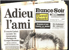 FRANCE SOIR n°11573 du 31/10/1981 ¤ SPECIAL L'ADIEU A GEORGES BRASSENS MORT