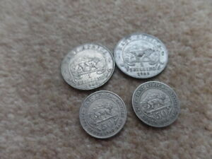 Collection British Empire East Africa King George V-VI  4x Coins 20.3mm,27.5mm