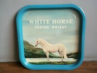 "Rare old ""WHITE HORSE"" Scotch Whisky advertising tin tray made in England."