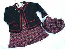 Girls 6-12 m Victorian Charm Gymboree Jumper Dress With Sweater