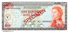 East Caribbean States  $100  ND. 1965  P 16ns  Specimen  Uncirculated Banknote