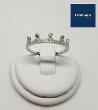 Anello in Argento 925 corona tiara con zirconi
