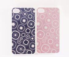 2x iPhone 4/4s, funda, bumper, protección en lila & Pink transparente Funda funda trasera