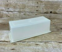 Tupperware Vintage Velveeta Cheese Keeper Butter   Sheer/White 518-2