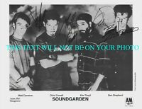 SOUNDGARDEN BAND SIGNED AUTOGRAPH 8X10 RPT PROMO PHOTO