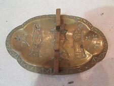 ancien plumier laiton epoque 1900 porte plume decor chinois