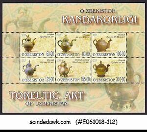 UZBEKISTAN - 2005 TOREUTIC ART / KETTLE - MINIATURE SHEET MNH