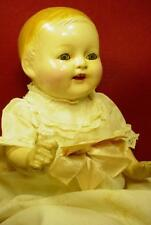 ANTIQUE ORIGINAL AMBERG VANTA BABY COMPOSITION DOLL 1920s TIN EYES OPEN MOUTH
