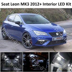 DELUXE SEAT LEON 5F MK3 2012-2018 WHITE INTERIOR LED XENON LIGHT KIT BULB ST