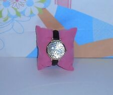 Icing Leopard Print Face Quartz Wristwatch with Black Faux Leather Band NEW