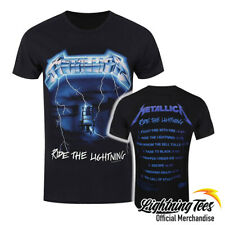 Official Metallica Ride The Lightning Tracks Rock Band T-Shirt