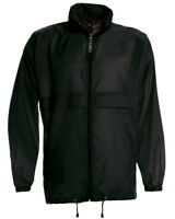 BLACK Mens Lightweight Windbreaker/Waterproof Jacket. B&C Sirocco - JU800