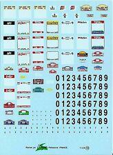Decalbogen Startnummenfelder Rallye - 1:43 (143)