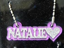 Personalized Name Plate Custom Name Necklace Nameplate Name Laser Cut