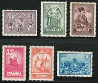 Romania 1929 MNH Mi 346-351 Sc 347-352 Union of Transylvania & Romania LUXUS **
